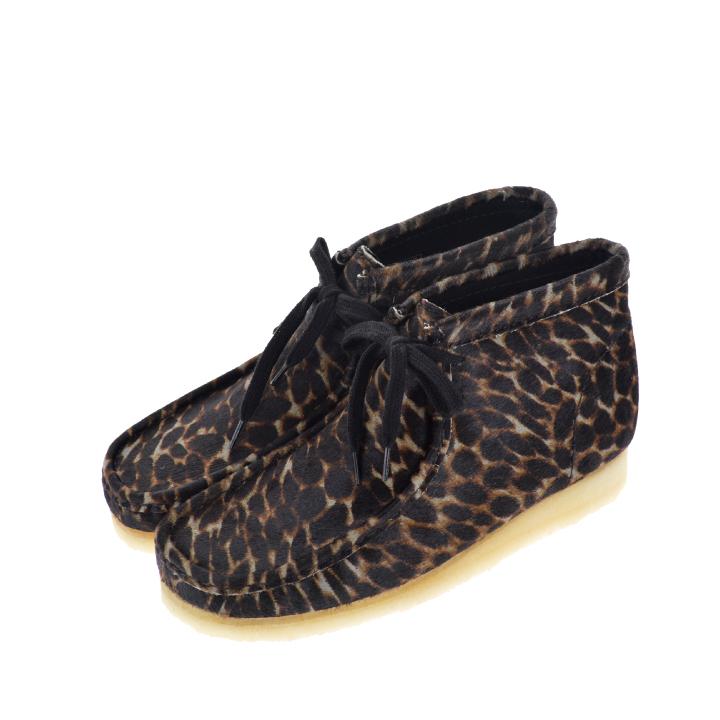【100円OFFクーポン!+5%還元!】CLARKS クラークス Wallabee Boot Black animal print メンズ 靴 ハラコ アニマルプリント シューズ【西日本】