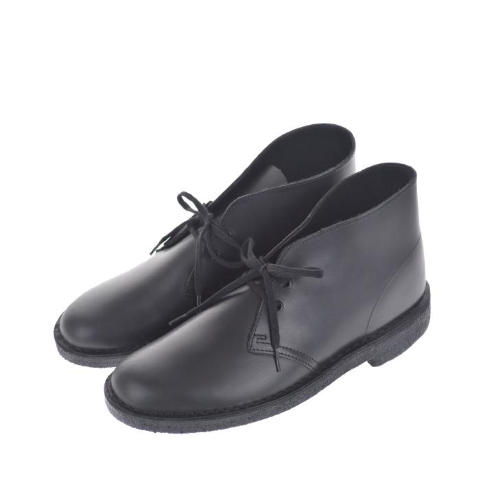 【100円OFFクーポン!+5%還元!】CLARKS クラークス Desert Boot Black Polished デザートブーツ ポリッシュドレザー レザー ブラック メンズ 【西日本】