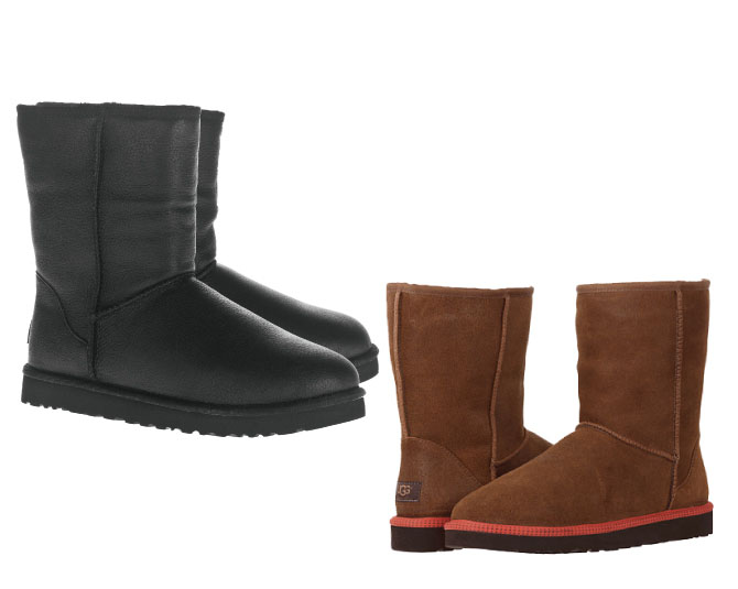 a5f97e72ec3 ugg classic short leather boot black DEROQUE due: UGG UGG CLASSIC SHORT  LEATHER MENS classic short .