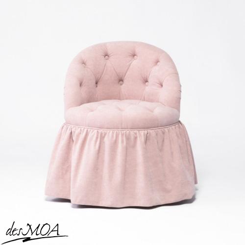 スカートスツール 1人掛け パーソナルチェア 椅子 布地 輸入家具 / ピンク系 NSF237