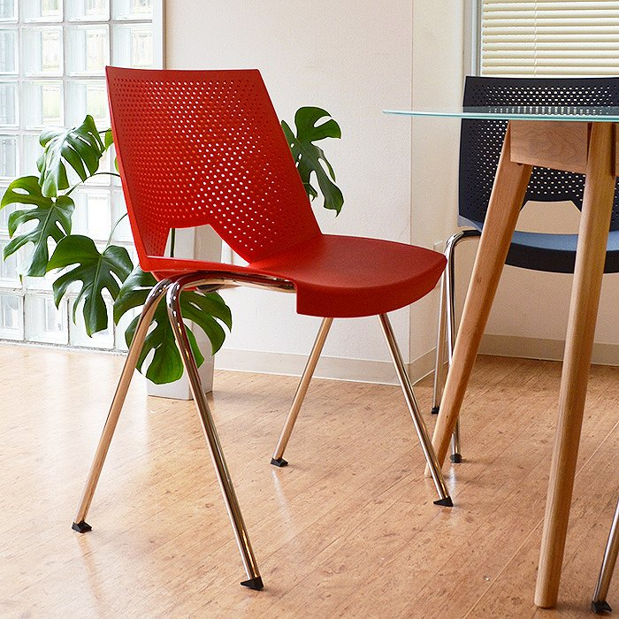 【レビュー特典あり】 チェア 椅子 デザイナーズチェア イタリア スタッキング 重ね置き 軽量 ポケットチェア STRIKE(ストライク) 【4脚セット】