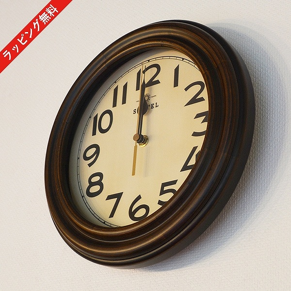 掛け時計 時計 壁掛け クロック アナログ 電波時計 電波 シンプル アンティーク レトロ 木製 国産 日本製 DQL668