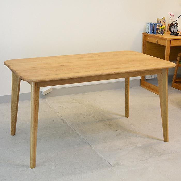 【レビュー特典あり】 ダイニングテーブル 無垢材 テーブル 無垢 ダイニング 食卓 オーク材 北欧 バレーナ 幅135cm 【送料無料】