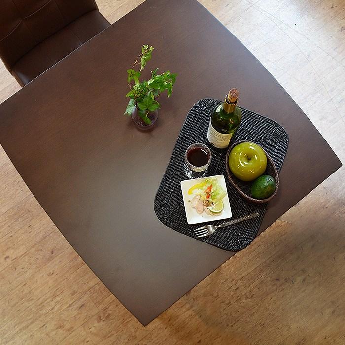 【レビュー特典あり】 ダイニングテーブル 2人掛け ダイニング テーブル 食卓 モダン ブラウン デリカ 幅75cm 送料無料