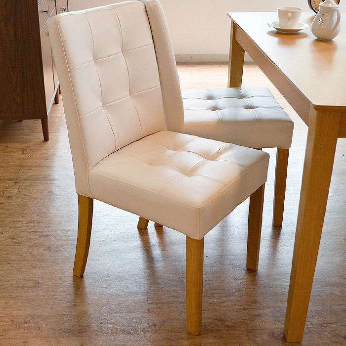 【メーカー包装済】 ダイニングチェア PVC 椅子 チェア チェア クッション 椅子 ラバーウッド材 北欧 PVC デリカ【2脚セット】【送料無料】, GUTS-CYCLE:9730b87a --- canoncity.azurewebsites.net