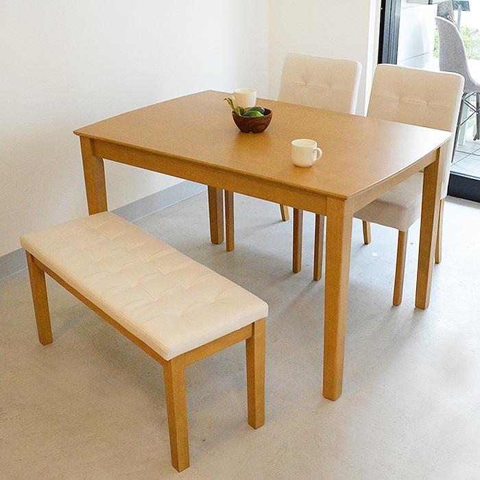 ダイニングテーブル ダイニング4点セット 北欧 ナチュラル ダイニングテーブルセット 4人掛け ダイニングセット テーブルセット 食卓 デリカ 幅115cm 送料無料