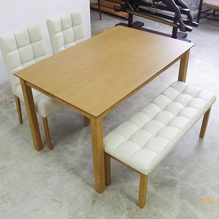 ダイニングテーブルセット ダイニングセット 4点セット テーブル 食卓 食卓テーブル アッシュ 突板 北欧 115cm DYH-S【送料無料】