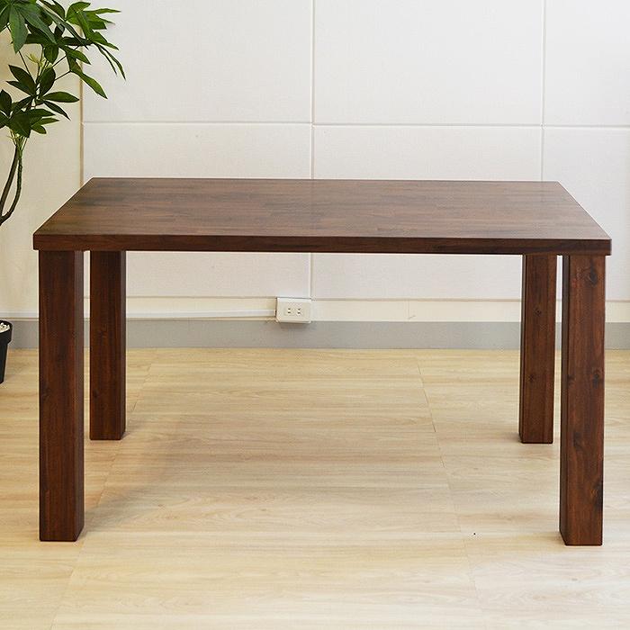 【レビュー特典あり】 ダイニングテーブル テーブル 無垢材 ダイニング ウォールナット 食卓 無垢 オーディン 幅135cm 【送料無料】