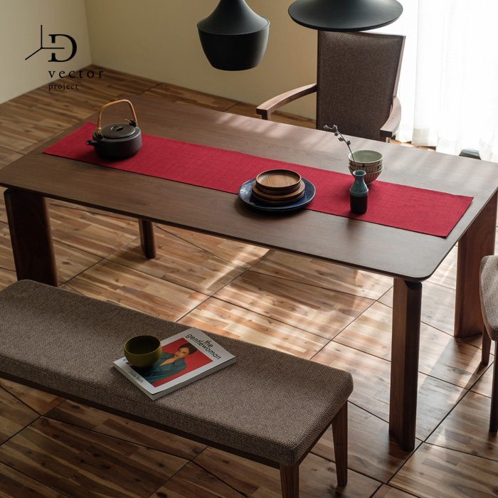 【レビュー特典あり】 ダイニングテーブル 無垢 幅170cm 北欧 DUKE DINING TABLE 170