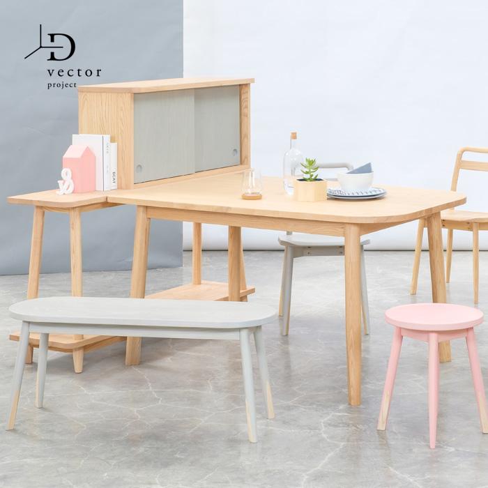 【レビュー特典あり】 ダイニングテーブル 無垢 幅100cm モダン PENCIL DINING TABLE-S
