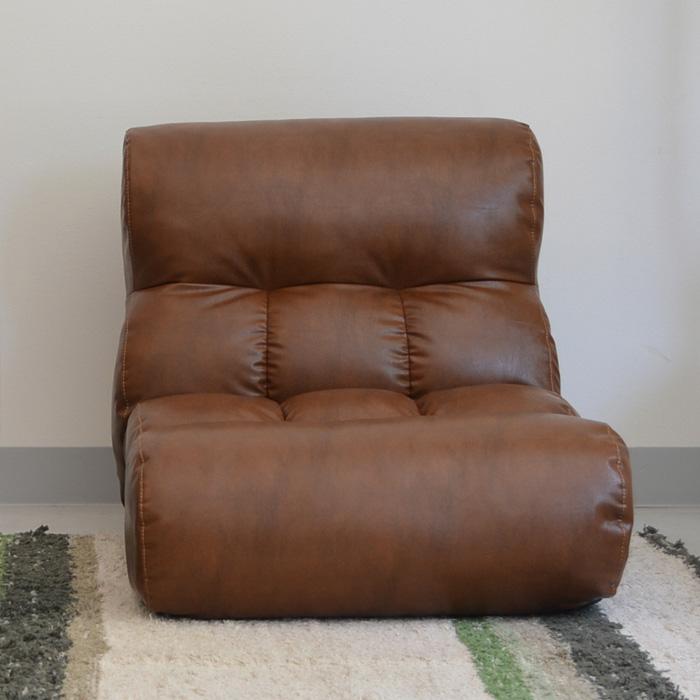 ピグレット クラシック 座椅子 リクライニング ポケットコイル フロアソファ チェア リラックスチェア ソファ PVCレザー 【送料無料】