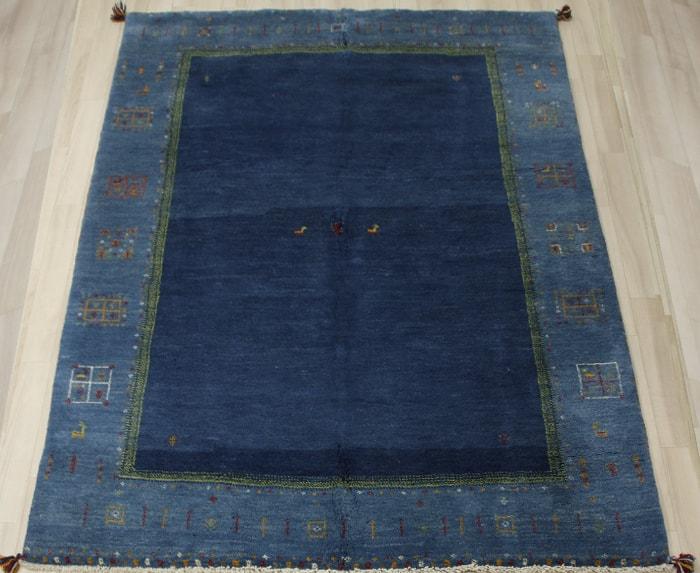 ペルシャ製ギャッベ 手織りラグマット ペルシャギャベ BB23025 (Y) 約173×240cm ブルー ネイビー系 ウールカーペット ウールラグ ウール100% お買い物マラソン