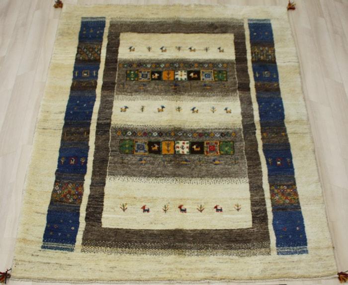 ペルシャ製ギャッベ 手織りラグマット ペルシャギャベ BB26474 (Y) 約170×233cm ベージュ系 ウールカーペット ウールラグ ウール100% お買い物マラソン