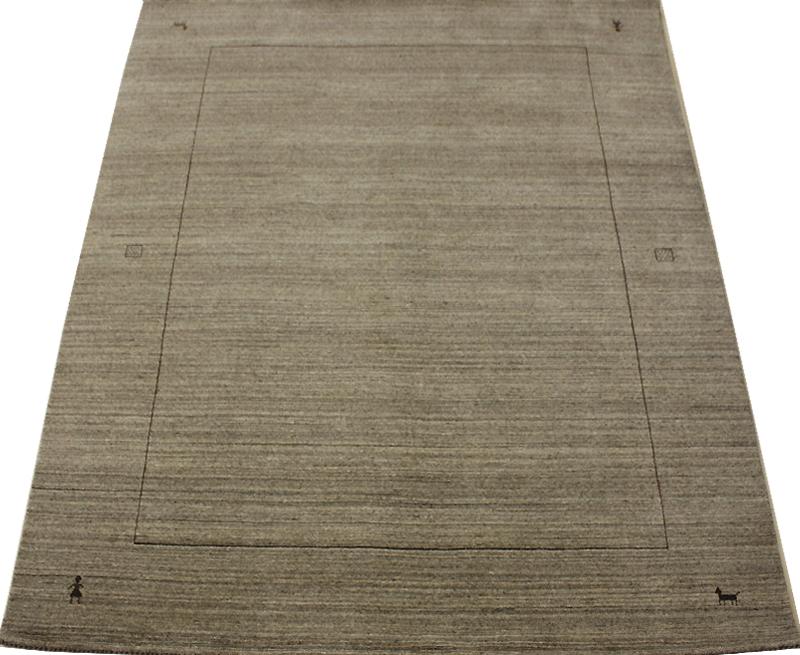 インドギャベ ラグマット ウール100% VL1134 (Y) グレー gray 約168×228cm ハンドルーム お買い物マラソン