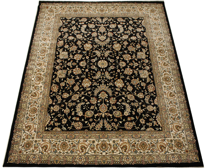 DA57356 (Y) 【約50万ノット】 ウイルトン絨毯 激安 輸入カーペット 約200×250cm ブラックカーペット 黒絨毯 黒色カーペット