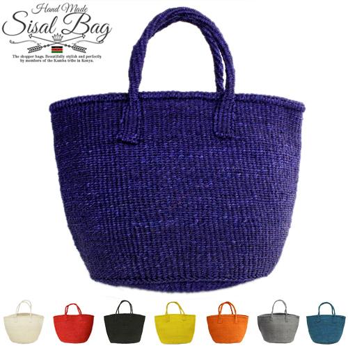 アフリカン カゴバッグ - サイザルバッグ 共手 かごバッグ 17色ケニア 世界の人気ブランド 9インチ 休日 鞄 編み