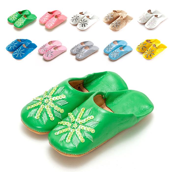 毎日がバーゲンセール 靴 シューズ ルームシューズ 子ども やわらかい ファティマモロッコ モロッコ キッズ サンダル 日本未発売 刺繍スパンコール バブーシュ スリッパ