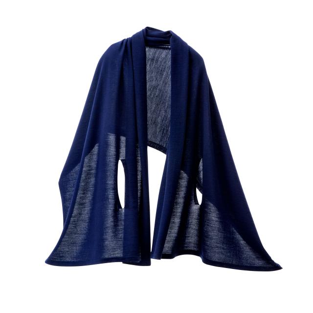 【mino】autumn 洗濯機で洗えるウールポンチョ mino wool 秋 はおり