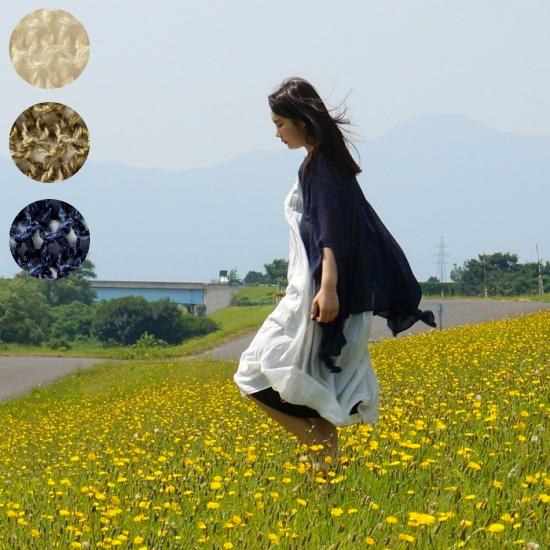 【mino】summer nico / 季節を編む 風とおるmino 夏のはおり ポンチョ コットン リネン 冷房対策 日焼け対策 サマー カーディガン