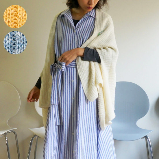【mino】spring nico / 季節を編む 陽だまりのmino ニット ポンチョ カーディガン 春のはおり