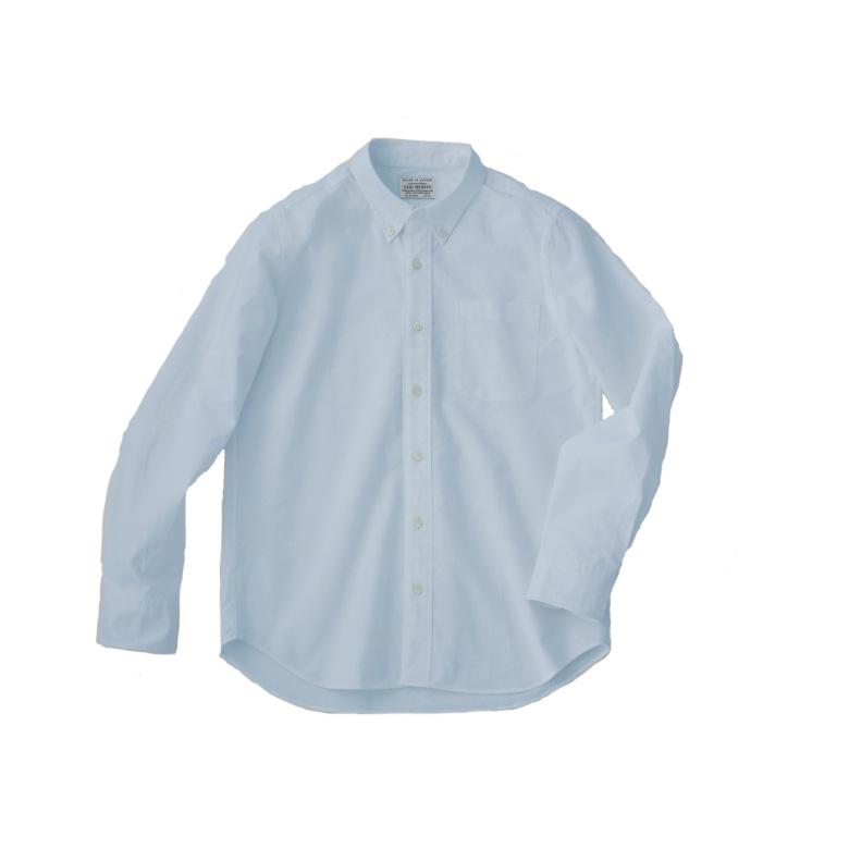 THE SHIRTS Botanical dye LIGHT BLUE 日本製 スーピマコットンを使ったオックスフォード生地 天然染料のシャツ