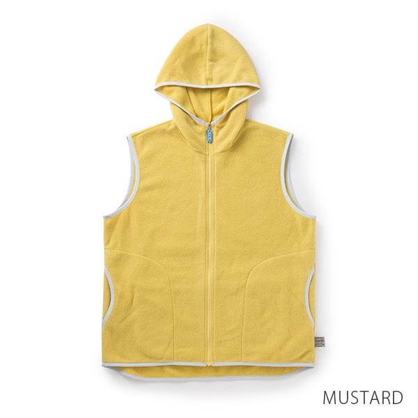 【TO&FRO】軽量コンパクトなフリースベスト 薄くて軽い TO&FRO HOODED VEST