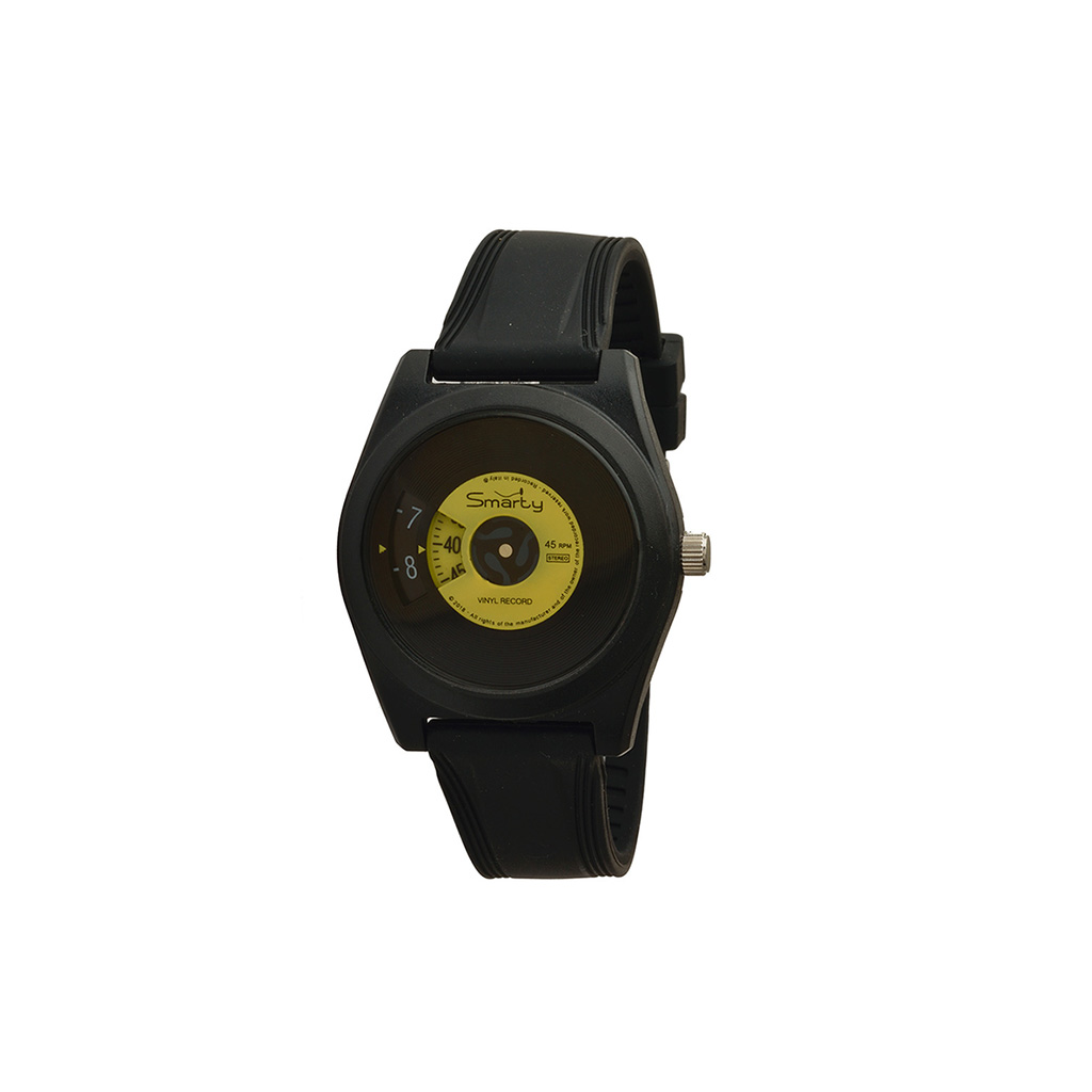 Smarty watch ブラックxイエロー イタリアブランド腕時計 シリコン製 メンズ レディース 日本初上陸 おしゃれな腕時計