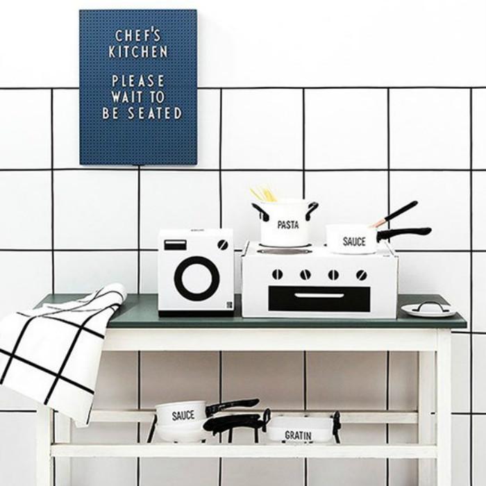お手伝い おままごと & KIDS APRON 料理 TEA TOWEL SET BY DESIGNLETTERS ごっこ遊び デザインレターズ キッチン キッズエプロン&ティータオルセット