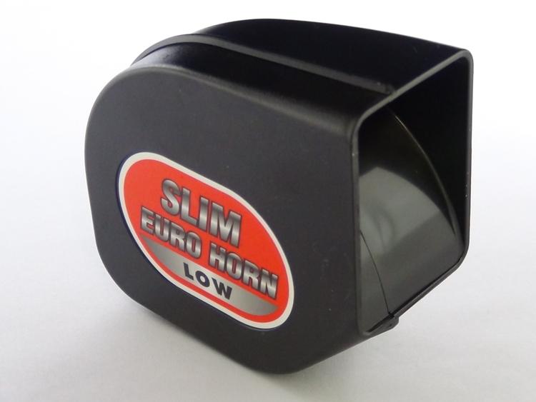 コンパクト薄型 45mm で狭い場所でも取り付けやすい 売り出し ArcHill ブラック 流行のアイテム スリムユーロホーン