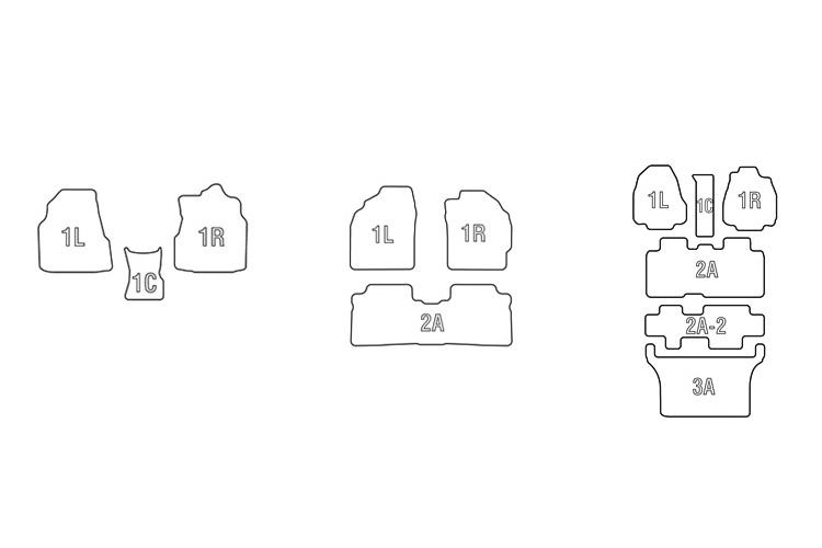 CLAZZIO クラッツィオ フロアマット/単品パーツ ラバータイプ 大パーツ/2席分以上の左右一体型(2A/3A)