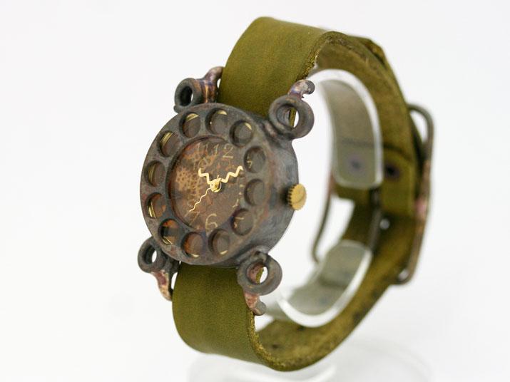 送料無料 en 黒電話 手作り腕時計