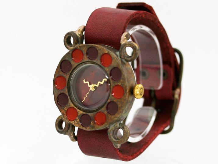 en 黒電話 J WN 手作り腕時計