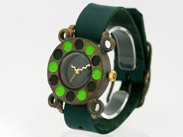 送料無料 en 黒電話 J GR 手作り腕時計