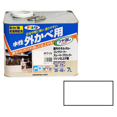 アサヒペン 水性外かべ用 7Lーホワイト