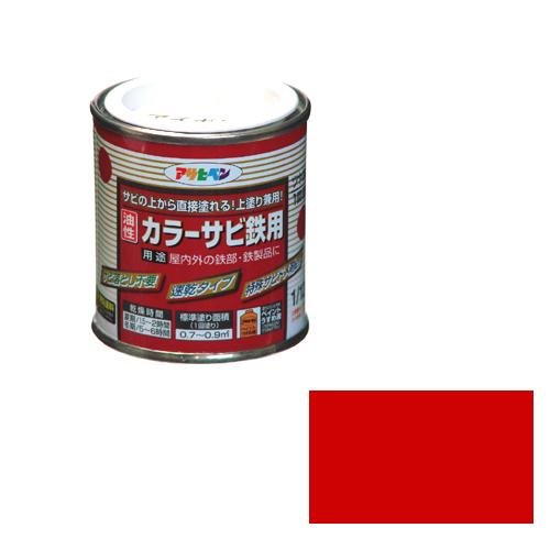 建築 住宅資材 国内即発送 塗料 オイルの油性塗料11 絶品 12Lーアカ 油性カラーサビ鉄用 1 サビの上から直接塗れる上塗り兼用サビ止めです アサヒペン