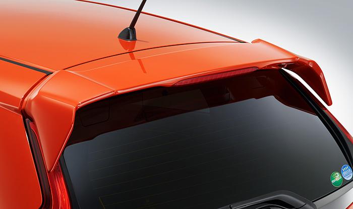 HONDA ホンダ 純正 FIT フィット テールゲートスポイラー ミッドナイトブルービームメタリック 2017.6~仕様変更 08F02-T5A-0U0 | テールゲート リア スポイラー ウイング リアウイング ウイングスポイラー 取り付け エアロパーツ 車 外装