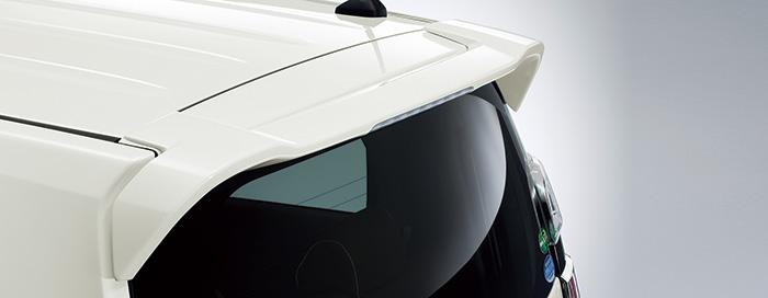 HONDA ホンダ NWGN N-WGN エヌワゴン ホンダ純正 テールゲートスポイラー プリリアントスポーティブルーメタリック 2016.6~次モデル 08F02-T6G-0H0 | テールゲート リア スポイラー ウイング リアウイング ウイングスポイラー 取り付け エアロパーツ 車 外装