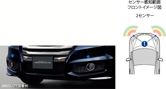 HONDA ホンダ ODYSSEY オデッセイ ホンダ純正 フロント センサー 本体 G全以外用 プレミアムスパイスパープルP 2016.12~仕様変更 08V66-T6A-AB0K