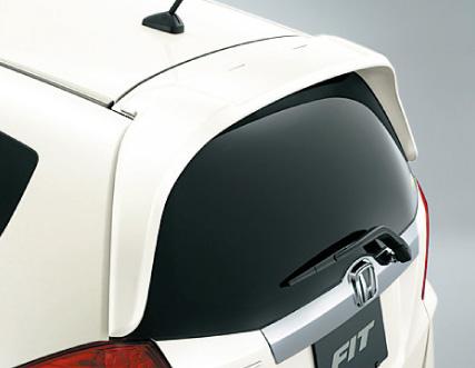 HONDA ホンダ FIT フィット ホンダ純正 テールゲートスポイラー(ウイングタイプ) 2013.01~次モデル | テールゲート リア スポイラー ウイング リアウイング ウイングスポイラー 取り付け エアロパーツ 車 外装