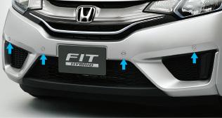 HONDA ホンダ FIT フィット ホンダ純正 フロントセンサー(超音波感知システム・4センサー)本体+取付アタッチメント 【 2013.9~次モデル】