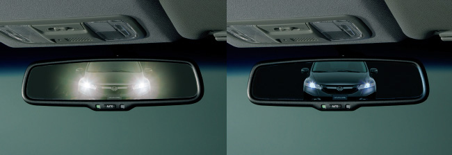 HONDA ホンダ FIT フィット ホンダ純正 オートデイナイトミラー LEDイルミネーション(ブルー照明)付【 2014.6~次モデル】