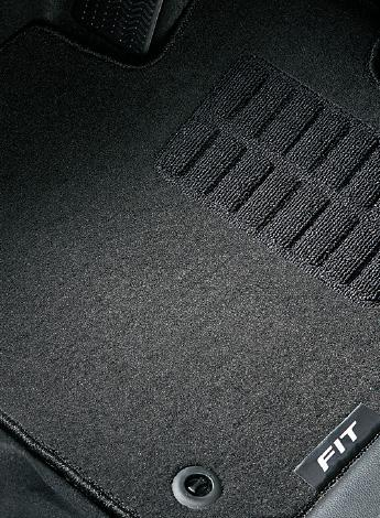 HONDA ホンダ FIT フィット ホンダ純正 フロアカーペットマット ( ブラック ) スタンダードタイプ 5MT/6MT車用 [ 2016.1~次モデル]