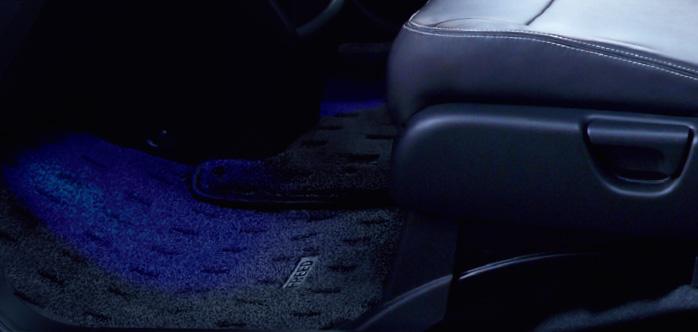 HONDA ホンダ FREED フリード ホンダ純正 フットライト フロント LEDブルー照明(スモールライト連動/ドア開閉連動/左右セット)【 2014.4~次モデル】 | ライト 車 内装 室内 イルミネーション イルミ 後付け 照明 アクセサリー ポイント消化