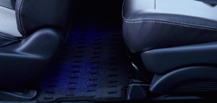 HONDA ホンダ FREED フリード ホンダ純正 フットライト リア LEDブルー照明(スモールライト連動/ドア開閉連動/左右セット) 【 2014.10~次モデル】 | ライト 車 内装 室内 イルミネーション イルミ 後付け 照明 アクセサリー ポイント消化
