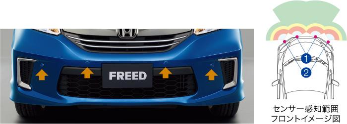 HONDA ホンダ FREED フリード ホンダ純正 フロントセンサー(超音波感知システム・4センサー) 【 2015.10~次モデル】