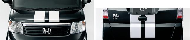 HONDA ホンダ 純正 NBOX N-BOX エヌボックス デカール ストライプ(PVC素材/ボンネット・テールゲート2枚セット) 2014.4~次モデル