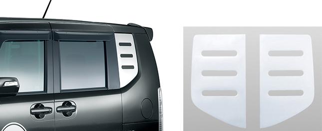 HONDA ホンダ 純正 NBOX N-BOX エヌボックス デカール クォーターウインドウ(厚さ約1mm/樹脂製/左右2枚セット) 2014.4~次モデル