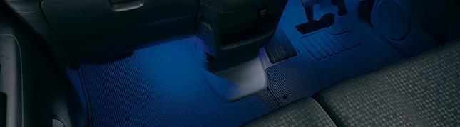 HONDA ホンダ 純正 NBOX N-BOX エヌボックス フットライト LEDブルー照明(ドア開閉・スモールライト連動/フロント用左右2個セット) 2015.2~次モデル   ライト 車 内装 室内 イルミネーション イルミ 後付け 照明 アクセサリー ポイント消化