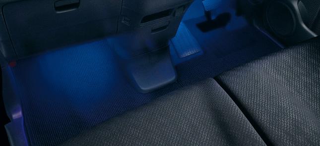 HONDA ホンダ 純正 NBOX+ N-BOX+ plus エヌボックスプラス フットライト LEDブルー照明(ドア開閉・スモールライト連動/フロント用左右2個セット) 2014.10~次モデル | ライト 車 内装 室内 イルミネーション イルミ 後付け 照明 アクセサリー ポイント消化