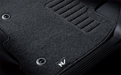 HONDA ホンダ 純正 N-BOX SLASH エヌボックススラッシュ フロアカーペットマット スタンダードタイプ(抗菌消臭加工/ヒールパッド付/フロント・リア3点セット) 2014.12~次モデル